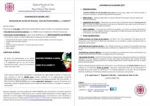 FESTIVIDAD COFRADÍA: EUCARISTÍA, CENA DE FRATERNIDAD Y OTRAS ACTIVIDADES