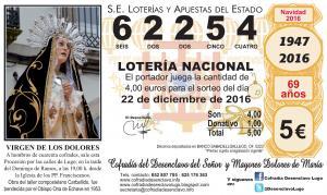 LOTERÍA DE NAVIDAD, 2016
